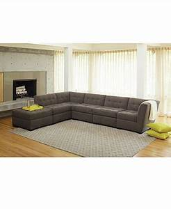 roxanne fabric 6 piece modular sectional sofa w ottoman With roxanne 2 piece sectional sofa