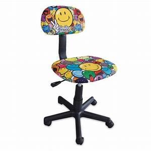 Petit Bureau Enfant : smiley chaise de bureau enfant petit mod le achat vente chaise de bureau jaune structure ~ Teatrodelosmanantiales.com Idées de Décoration