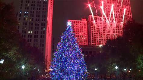 christmas tree farm in chicagoland area 2018 chicago tree lighting in millennium park wgn tv