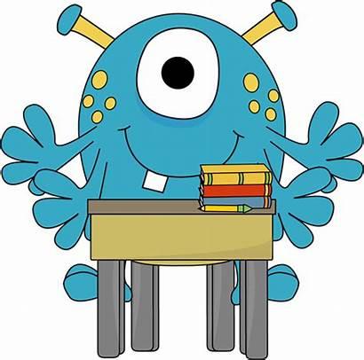 Desk Monster Clipart Monsters Clip University Graphics