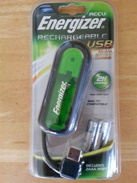 new energizer rechargeable usb aa aaa battery charger 2 aaa batteries ebay