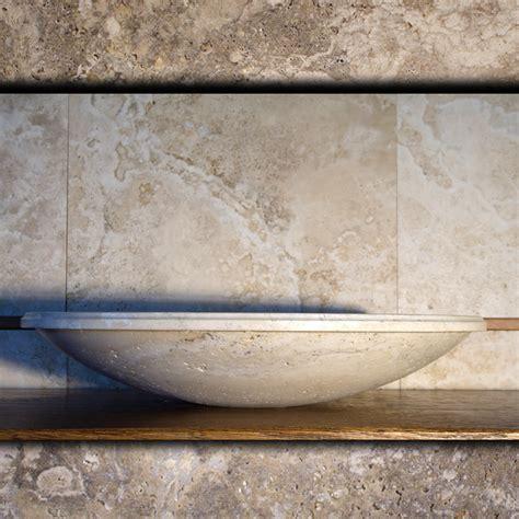 Lavabi Bagno Travertino Pietre Di Rapolano Lavabo Da Bagno In Travertino Chiaro Quot Fonterutoli