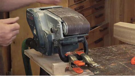 mounting  belt sander   workbench