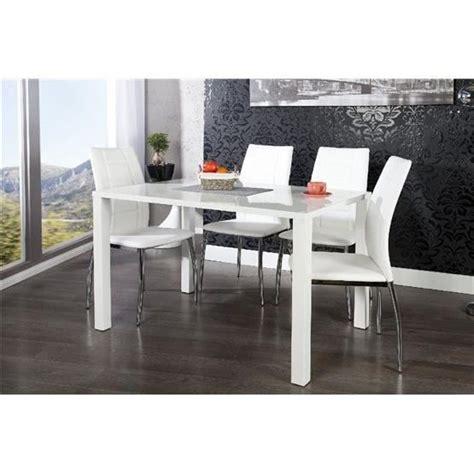 table 224 manger design lasya blanc 120x80 achat vente table salle a manger pas cher couleur