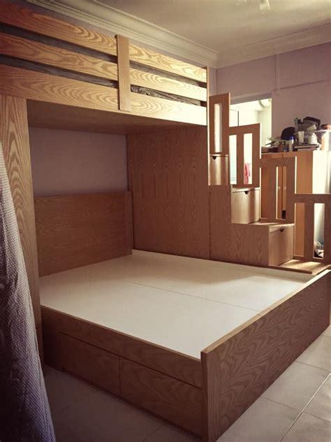 sleeping bunk bed custom kids furniture  singapore design    kids carpenter