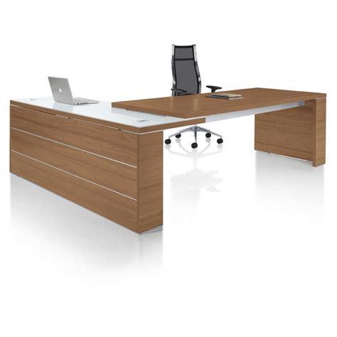 bureau avec retour bureau de direction contemporain bureau de direction
