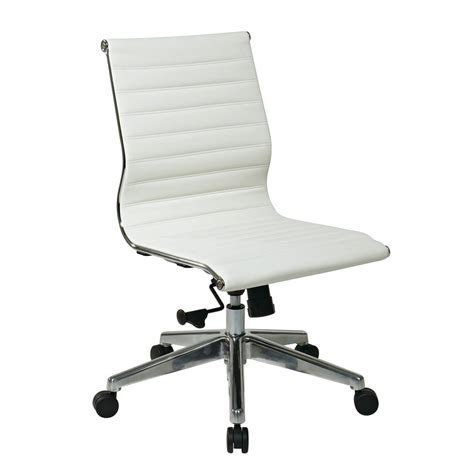 shop office osp furniture white bonded leather office
