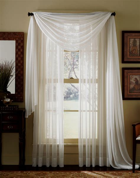 Gold And White Sheer Curtains by Elegance Sheer Curtain Voile Scarf Panels Gold