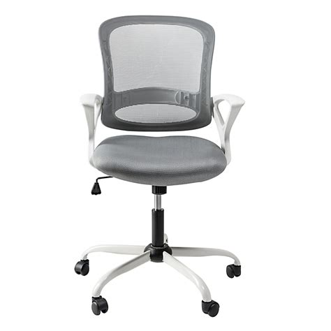 fauteuil de bureau alinea fauteuil de bureau à roulettes blanc et gris archic