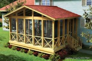 house plans with screened porch screened in porch plans to build or modify