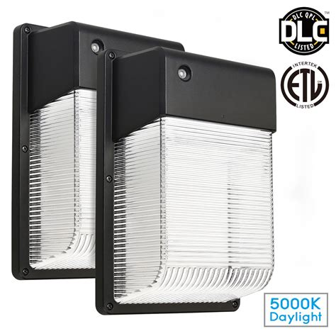 2 pack 16w dusk to dawn led wall pack photocell outdoor