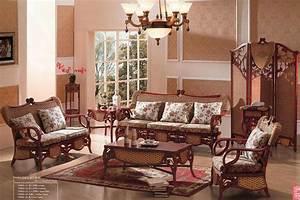 Wicker rattan living room furniture home design plan for Cane furniture for living room
