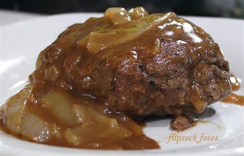 hamburger steak smothered hamburger steak recipe just a pinch recipes