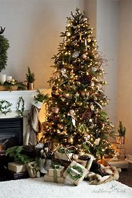woodland christmas tree decorating ideas