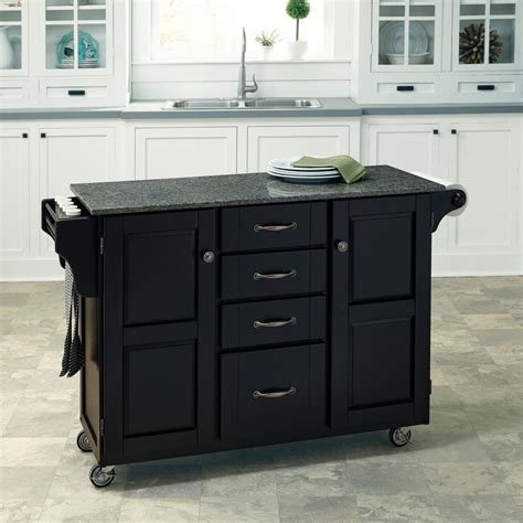 home styles create  cart black kitchen cart  black
