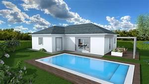 Maison Plain Pied En L : constructeur maison neuve plein pied construction ~ Melissatoandfro.com Idées de Décoration