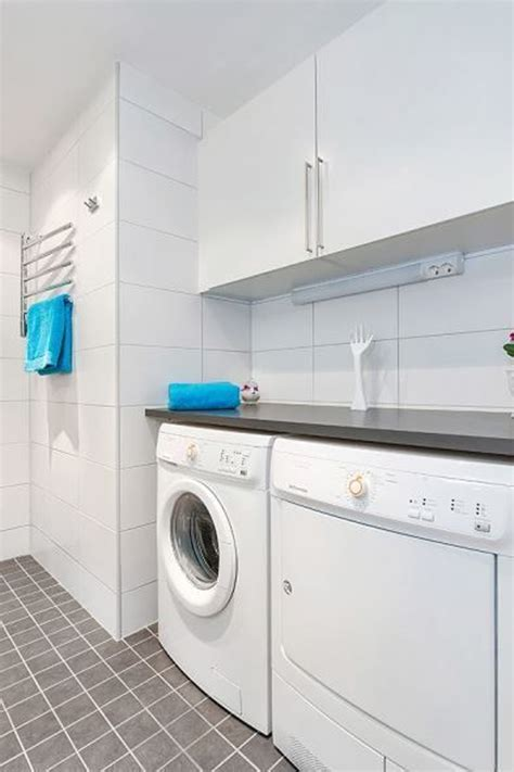 white clean laundry room