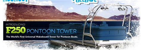 Wakeboard Tower Pontoon Boat by Wakeboard Towers By Aerial Aftermarket Tower Models