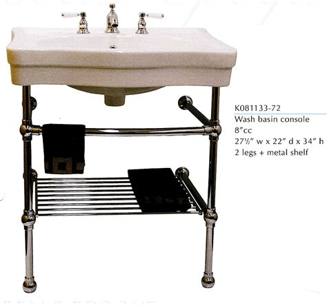 American Standard Retrospect Sink And Washstand by Sink Metal Console Home Decorating Excellence
