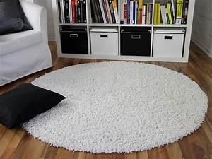 Hochflor Teppich Weiß : hochflor langflor shaggy teppich aloha weiss rund real ~ Watch28wear.com Haus und Dekorationen