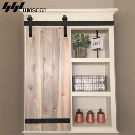 mini barn door hardware for cabinets winsoon sliding barn door hardware wood door closet