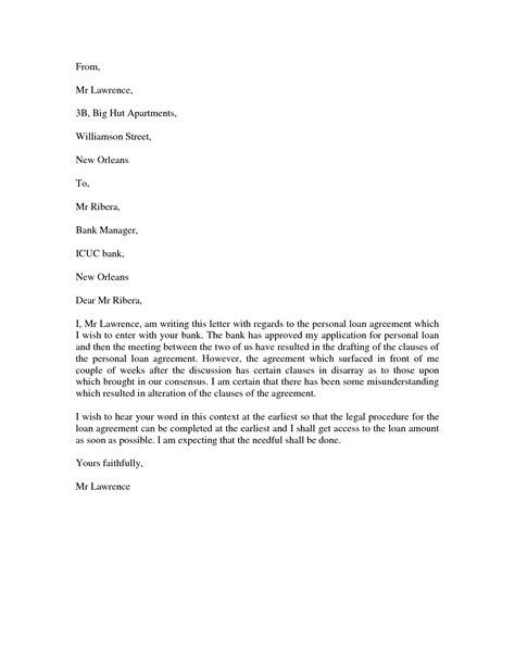 personal letter format formal letter