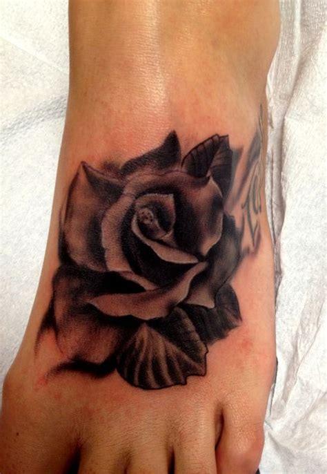 foot rose tattoo designs pretty designs