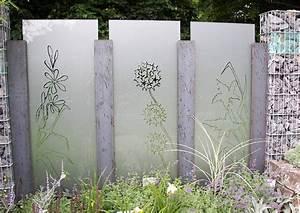 Zaun Aus Glas : l rmschutzwand gartenschau sichtschutzmauer aus gabionen glas ~ Yasmunasinghe.com Haus und Dekorationen