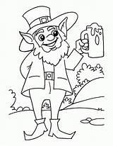 Coloring Beer Patricks Mug Sufficient Popular Coloringhome sketch template