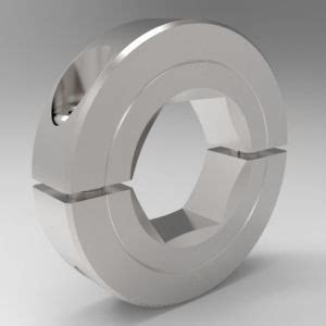 hexagonal bore shaft collars  piece split clamp type