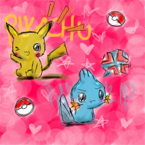 pikachu and mudkip by kishifishy on deviantart