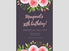 Customize 988+ 50th Birthday Invitation templates online