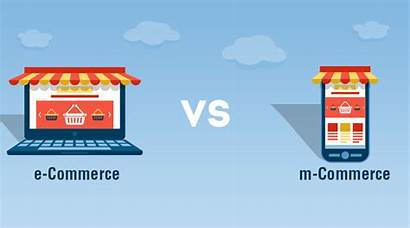 Ecommerce Commerce Mcommerce Between Difference Mobile Business