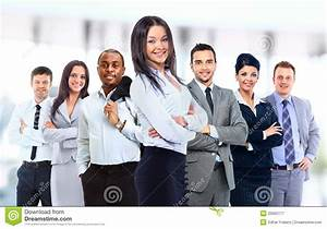 Young Attractive Business People Royalty Free Stock ...