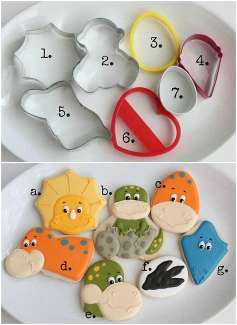 Dinosaur Face Cookies