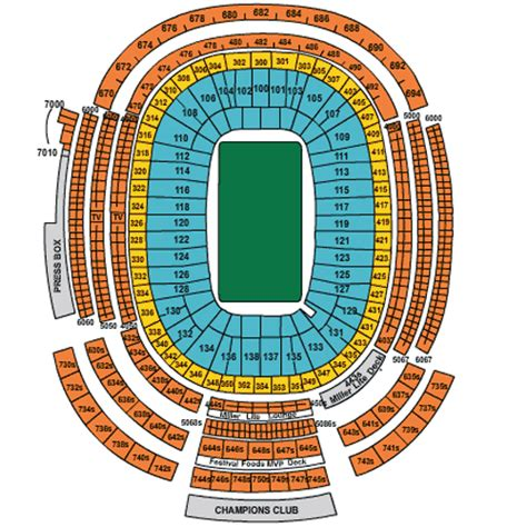 green bay packers ticket  seating information