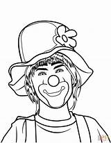 Clown Coloring Printable Circus Categories Supercoloring sketch template