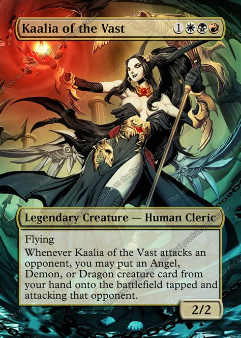 kaalia of the vast commander deck 28 kaalia of the vast edh kaalia of the vast for