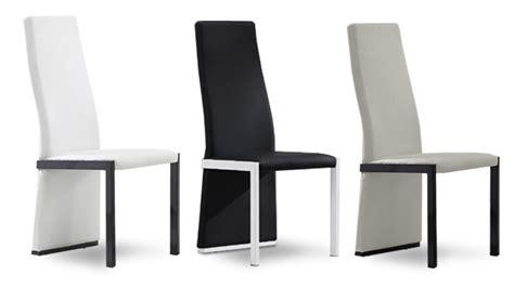 chaise dossier haut design chaises mobilier cuir