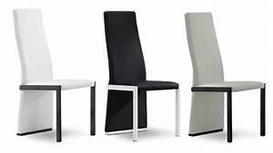 Chaises mobilier cuir for Meuble de salle a manger avec chaise haut dossier salle a manger