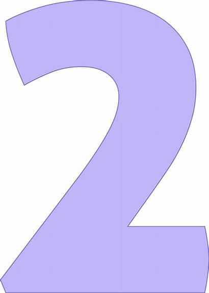 Number Purple Clipart Numbers Number2 Transparent Webstockreview