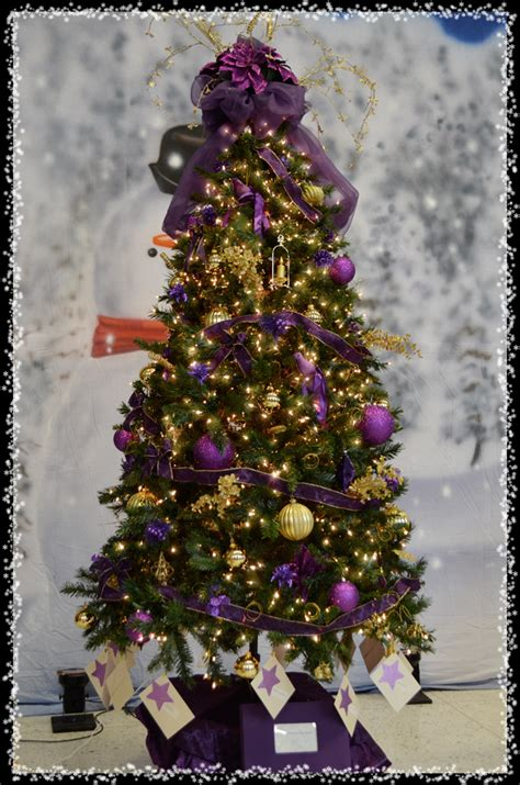 purple decorated christmas trees peacock christmas tree i upstate new york 5322