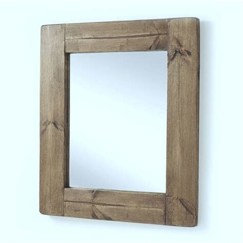 with wooden frame chunky wood framed mirrors by horsfall wright