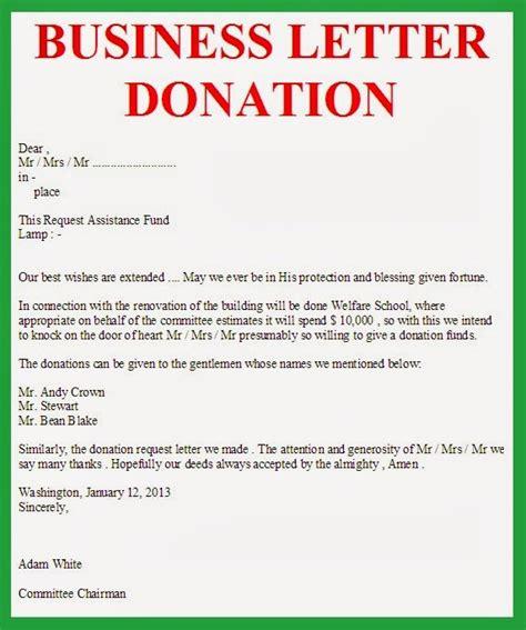 business letter business letter donation