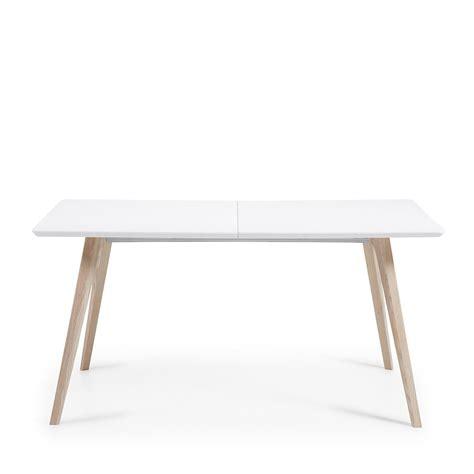 table cuisine bois blanc table design scandinave extensible bois laqué blanc joshua