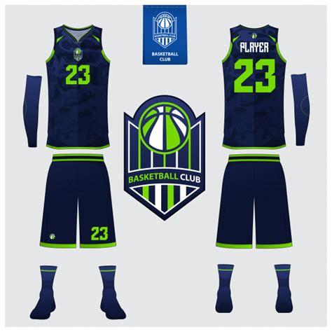 basketball jersey template design vector premium