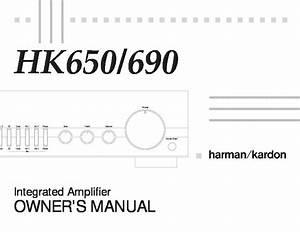 Harman Kardon Hk 650  Serv Man4  User Guide    Operation