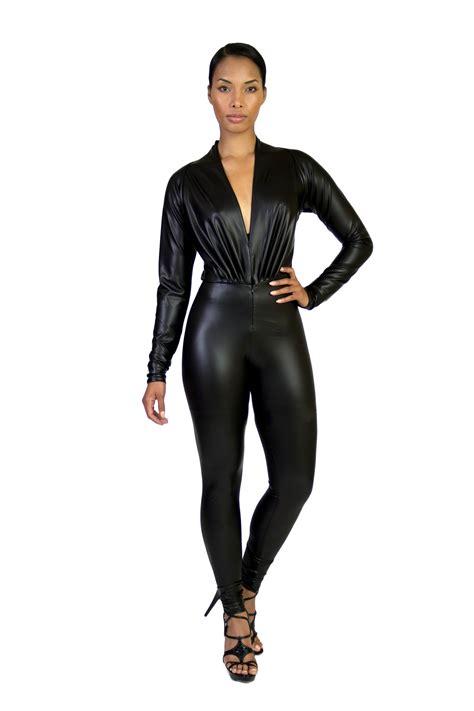 leather jumpsuits leather jumpsuit dressed up