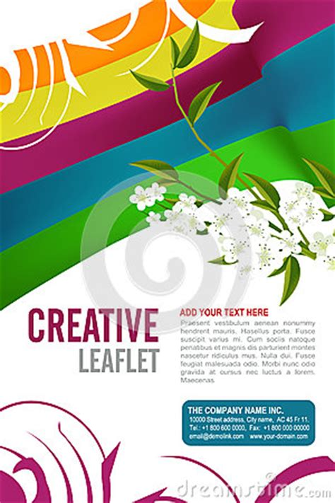 Leaflet Template Stock Images Royalty Free Images Leaflet Design Royalty Free Stock Photography Image