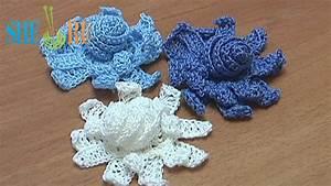 Crochet Long Petal Flower With Spiral Center Tutorial 10